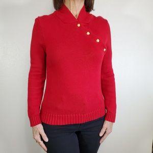 Lauren Ralph Lauren Red Sweater, Sz S.